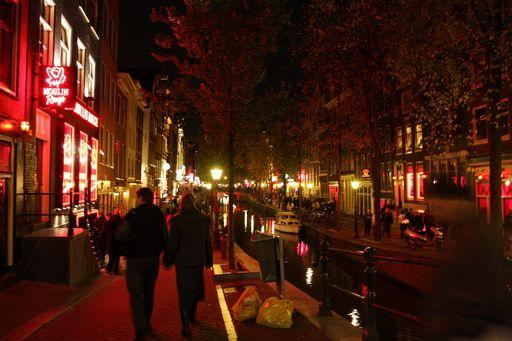 Амстердам, Улица Красных Фонарей