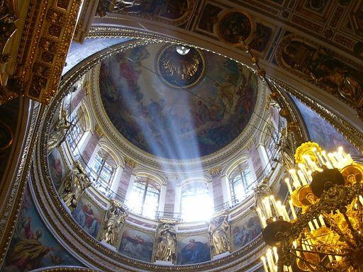 Исаакиевский собор, купол, свет, храм, Глаз Божий