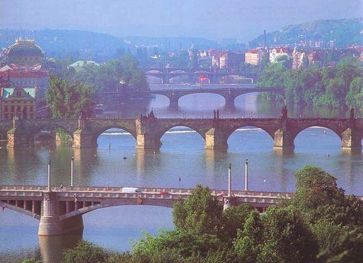 Прага, мосты через Влтаву