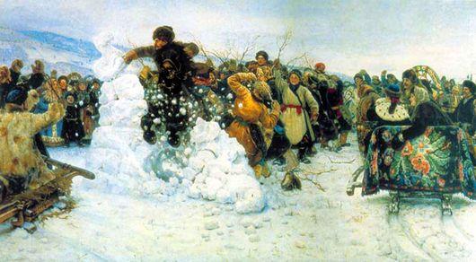 Суриков, Взятие снегового городка