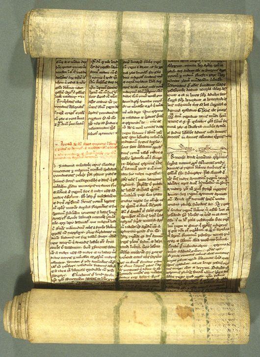 Александрийская библиотека. Рисунок свитк