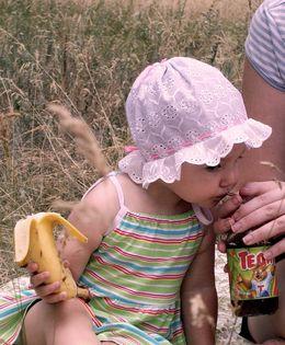 Пикник на природе с ребенком