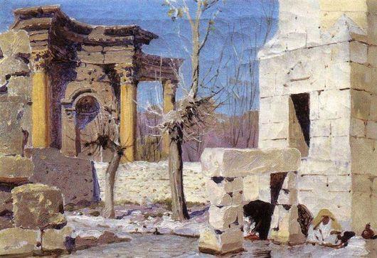 Баальбек. Русский художник Василий Поленов