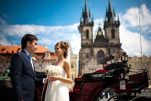 Прага, оригинальная свадьба за границей