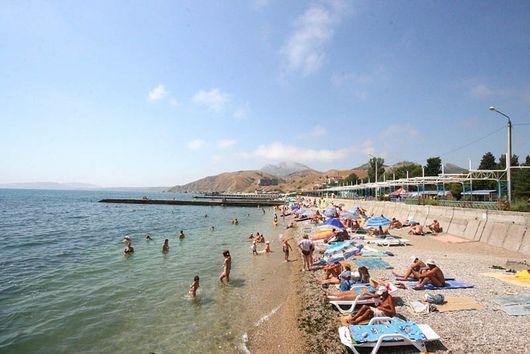 Золотой пляж, Крым