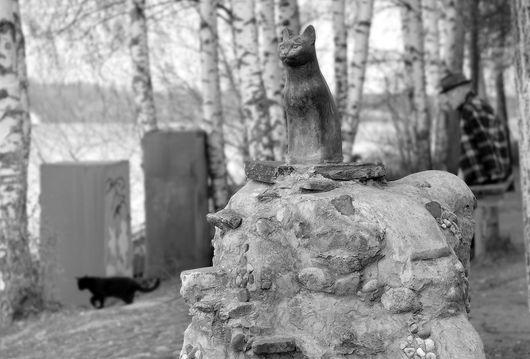 Плёс, памятник Кошке