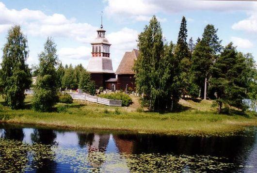 Старая церковь в Петяявеси, Финляндия