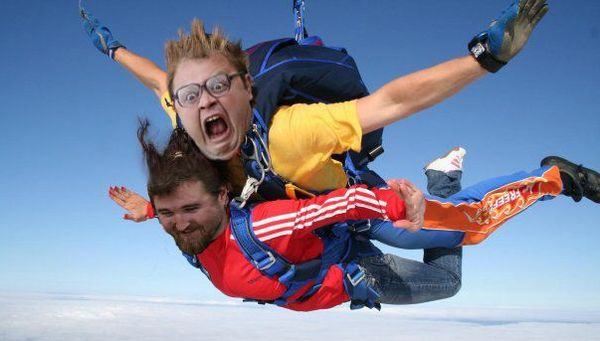 Экстремальный туризм. Прыжки с парашютом.